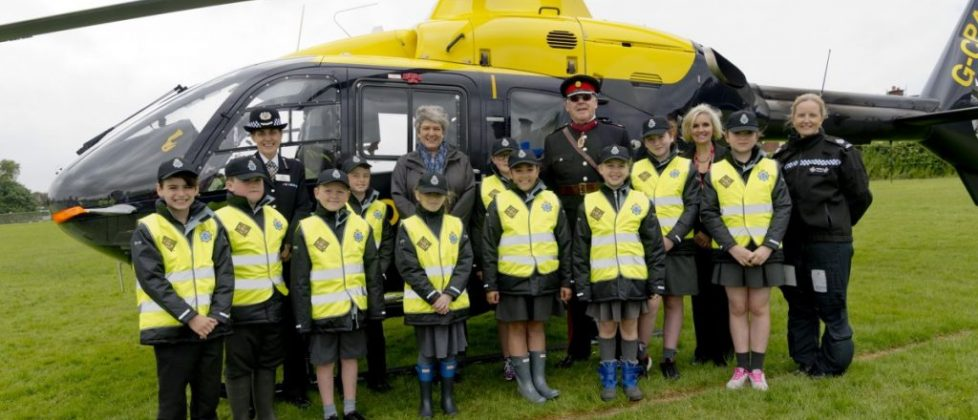 On parade with Merseyside Police.